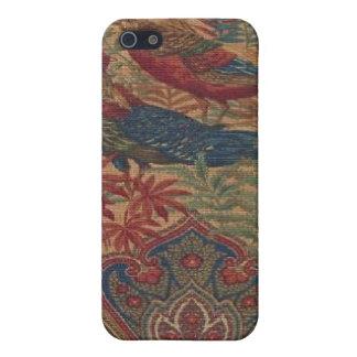 フランスのな国のペイズリーの鳥は場合のiPhone 4に斑点をつけます iPhone 5 Case