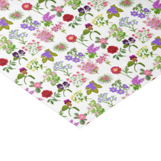 フランスのな国の庭の花柄のティッシュペーパー 薄葉紙