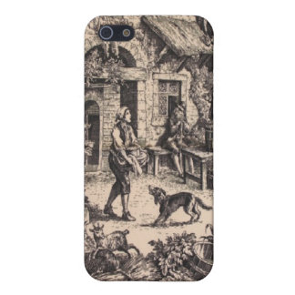 フランスのな国のToileの黒のSpeckの場合のiPhone 4 iPhone 5 Case