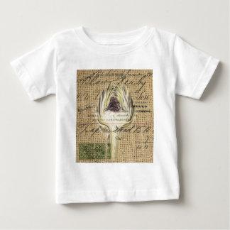 フランスのな国はモダンなヴィンテージのアーティチョークの台本を書きます ベビーTシャツ
