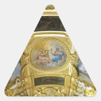 フランスのな天井の絵画 三角形シール