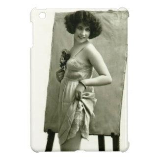 -フランスのな女の子のヴィンテージ芸術品 iPad MINIカバー