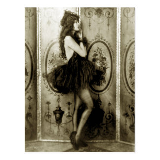 フランスのな女の子の写真の郵便はがき ポストカード