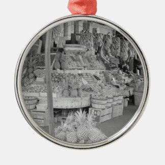 フランスのな市場のフルーツ立場6月1936.jpg メタルオーナメント