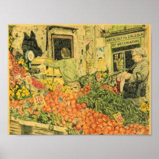 フランスのな市場 ポスター