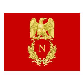 フランスのな帝国ワシのナポレオンIの紋章の郵便はがき ポストカード