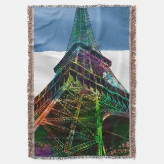フランスのな旗が付いているエッフェル塔- スローブランケット