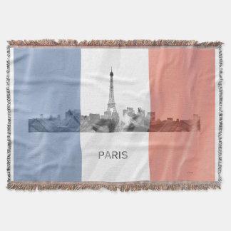 フランスのな旗とのパリ、フランスのスカイライン スローブランケット