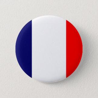 フランスのな旗のデザイン- OUI! 5.7CM 丸型バッジ