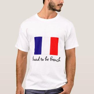 フランスのな旗のTシャツがあること誇りを持った Tシャツ