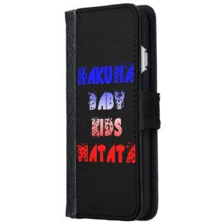 フランスのな旗は赤ん坊の子供のHakuna Matataの財布を着色します iPhone 6/6s ウォレットケース