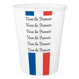 フランスのな旗、Viveのlaフランスのパリ祭のパーティ 紙コップ