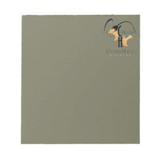 フランスのな灰色の軍隊の緑のコオロギのロゴCricketDiane ノートパッド