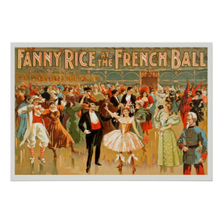 フランスのな球のヴィンテージポスターのファニーの米 ポスター