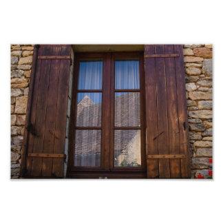 フランスのな田舎写真のプリントの窓 フォトプリント