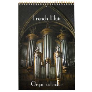 フランスのな眼識-フランスのカレンダーの器官 カレンダー