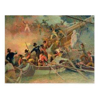フランスのな船を征服している英国海軍 ポストカード