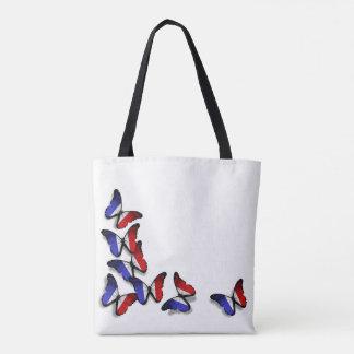 フランスのな蝶旗のバッグ トートバッグ