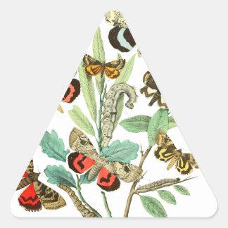 フランスのな蝶 三角形シール
