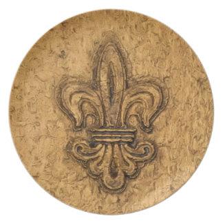 フランスのな謝肉祭 の(紋章の)フラ・ダ・リニュー・オーリンズ プレート