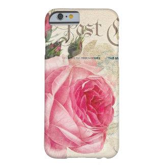 フランスのな郵便はがきのピンクのバラのiPhone 6 Barely There iPhone 6 ケース