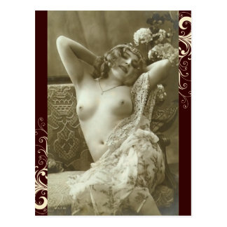フランスのな郵便はがき-際どい裸体 ポストカード