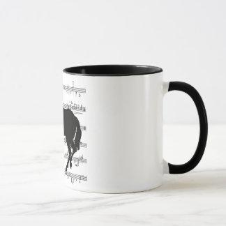 フランスのな音楽馬は上がりました マグカップ