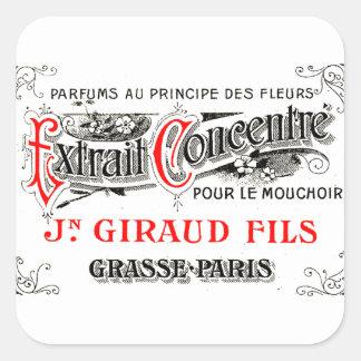 フランスのな香水のラベルの芸術のステッカー スクエアシール