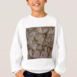 フランスのなBistreのブラウンの抽象的で低い多角形Backgroun スウェットシャツ