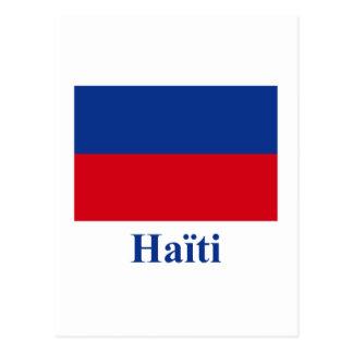フランスのの名前のハイチの市民旗 ポストカード
