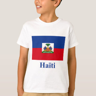 フランスのの名前のハイチの旗 Tシャツ
