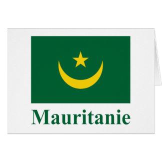 フランスのの名前のモーリタニアの旗 カード