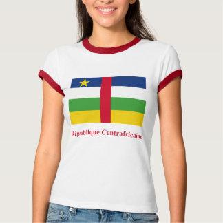 フランスのの名前の中央アフリカの旗 Tシャツ