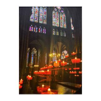 フランスのカテドラルの照明の祈りの言葉の蝋燭 アクリルウォールアート