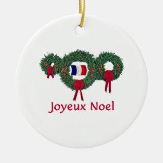 フランスのクリスマス2 セラミックオーナメント