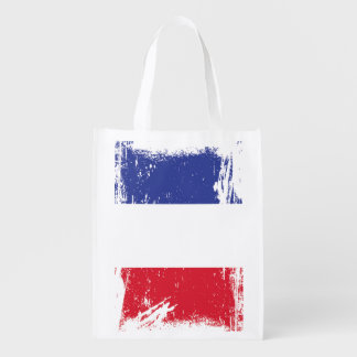 フランスのグランジな旗 エコバッグ