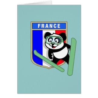 フランスのスキージャンプのパンダ カード
