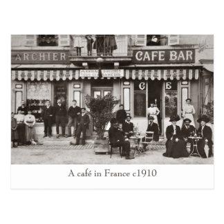 フランスのセピア色の郵便はがきのCafé ポストカード