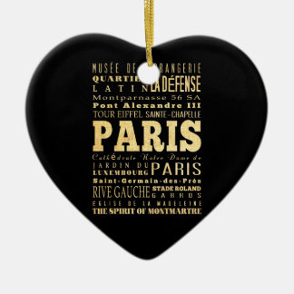 フランスのタイポグラフィの芸術のパリ都市 セラミックオーナメント