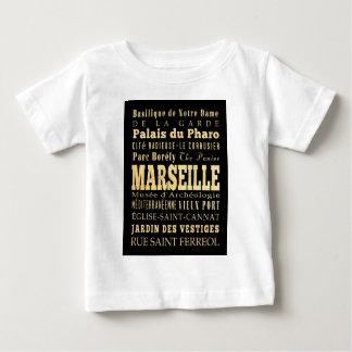 フランスのタイポグラフィの芸術のマルセーユ都市 ベビーTシャツ