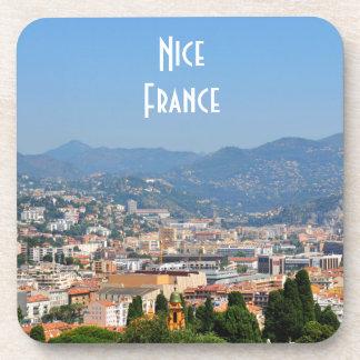 フランスのニースの都市の空中写真 コースター