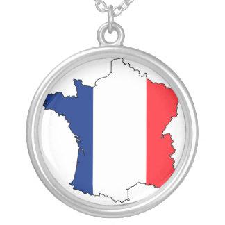 フランスのネックレス シルバープレートネックレス