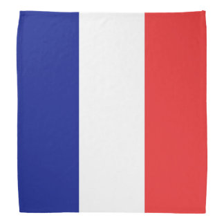 フランスのフランス語Tricoloreの旗 バンダナ