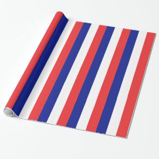 フランスのフランス語Tricoloreの旗 ラッピングペーパー