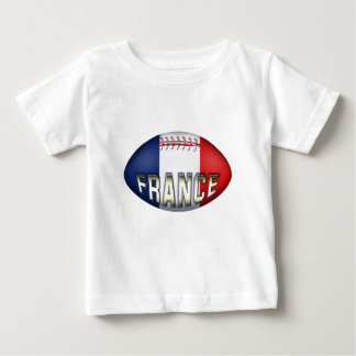 フランスのラグビーのボール ベビーTシャツ