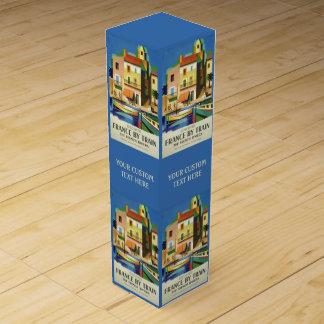 フランスのヴィンテージ旅行ワイン用化粧箱 ワインギフトボックス