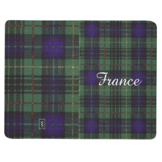 フランスの一族の格子縞のスコットランドのキルトのタータンチェック ポケットジャーナル