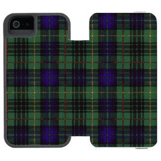 フランスの一族の格子縞のスコットランドのキルトのタータンチェック INCIPIO WATSON™ iPhone 5 ウォレット ケース
