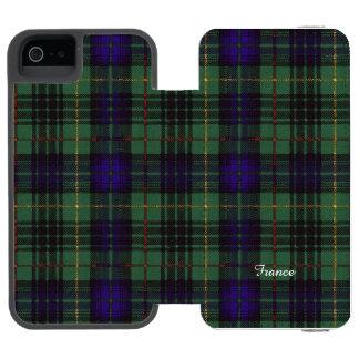フランスの一族の格子縞のスコットランドのキルトのタータンチェック INCIPIO WATSON™ iPhone 5 財布 ケース