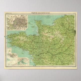 フランスの北西セクション、パリの周辺 ポスター